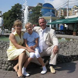 Игорь Яшкин с семьей